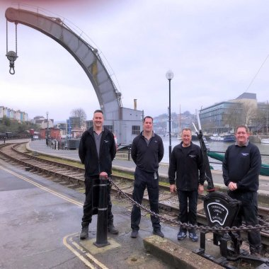 One of our Service Teams at Bristol Historic Docks