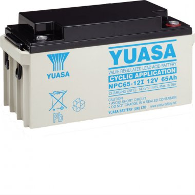 Yuasa NPC65-12 Deep Cycle VRLA Battery