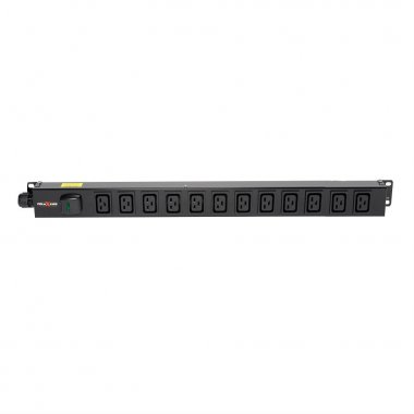 12 Way Vertical Slimline PDU - C19 IEC Outlets