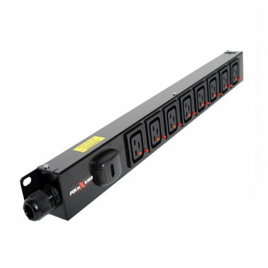 8 Way Vertical Slimline PDU - Click Lock C19 IEC Outlets