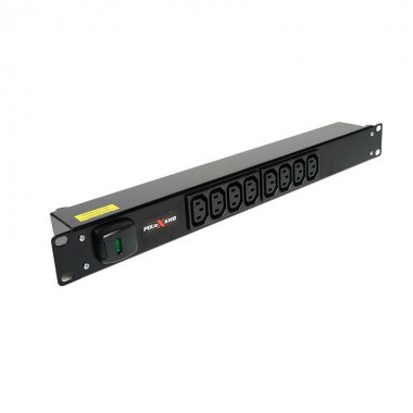8 Way 1U Horizontal Slimline PDU - C13 Outlets