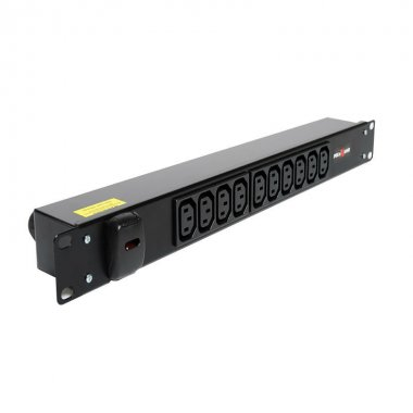 10 Way 1U Horizontal Slimline PDU - C13 Outlets