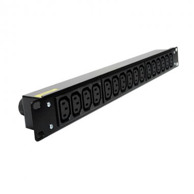 16 Way 1U Horizontal Slimline PDU - C13 Outlets