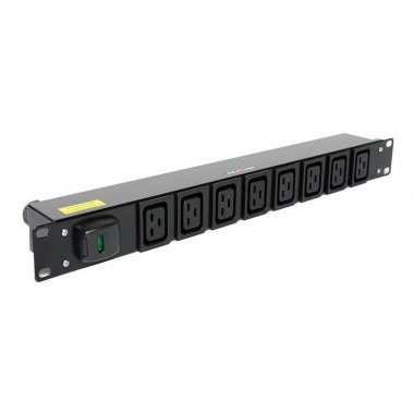8 Way 1U Horizontal Slimline PDU - IEC C19 Outlets