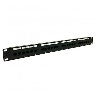 1U 24 Port Patch Panel