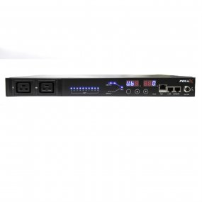 Remote monitored, Rack Mount Automatic Transfer Switch ATS 16A C20 in, 8 x C13 + 1 x C19 out