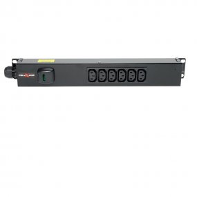 6 Way Vertical Slimline PDU - C13 IEC Outlets