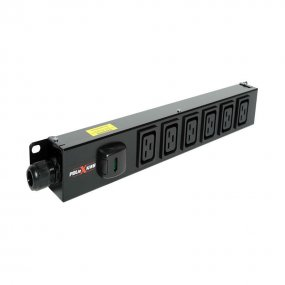 6 Way Vertical Slimline PDU - C19 IEC Outlets