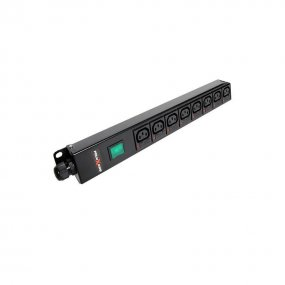 8 Way Vertical Slimline PDU - C13 IEC Individually Fused Outlets