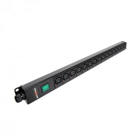16 Way Vertical Slimline PDU - C13 IEC Individually Fused Outlets
