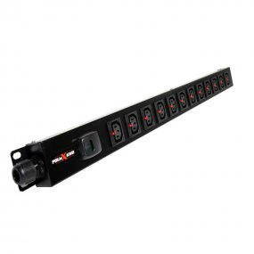 12 Way Vertical Slimline PDU - Click Lock C13 IEC Outlets