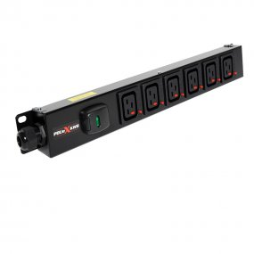 6 Way Vertical Slimline PDU - Click Lock C19 IEC Outlets