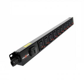 10 Way Vertical Slimline PDU - Click Lock C19 IEC Outlets