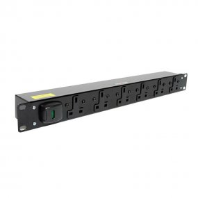 6 Way 1U Horizontal Slimline PDU - 13A Outlets