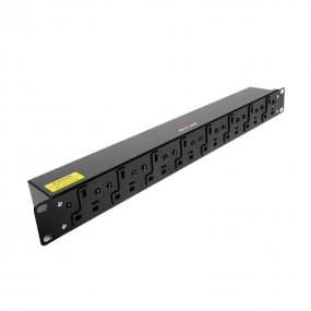 8 Way 1U Horizontal Slimline PDU - 13A Outlets