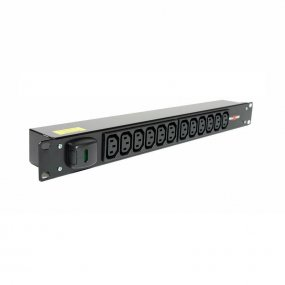 12 Way 1U Horizontal Slimline PDU - C13 Outlets