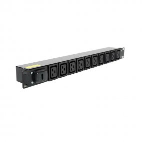 10 Way 1U Horizontal Slimline PDU - IEC C19 Outlets