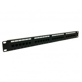 "1U 24 Port 19"" CAT6 UTP Patch Panel"