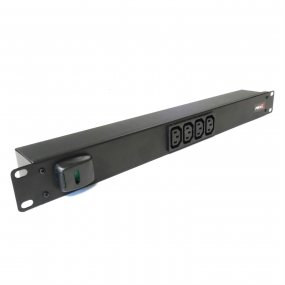 4 Way 1U Horizontal Slimline PDU - C13 Outlets